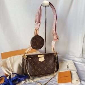 NWT🍓🎀LouisVuitton 💖women's Pink Multi Bag